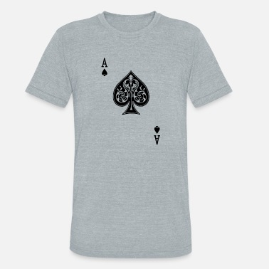 Ace Of Spades Poker Halloween Costume Ace of Spades - Unisex Tri-Blend T-Shirt
