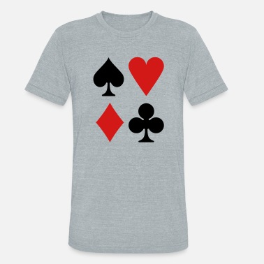 Queen Of Hearts suits - Unisex Tri-Blend T-Shirt