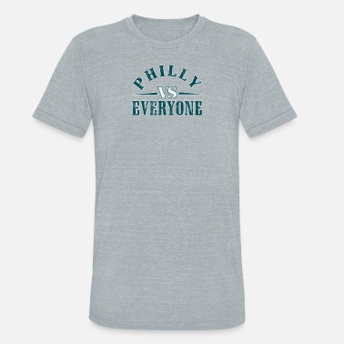 City Of Brotherly Love Philly Vs Everyone Vintage Distressed Graphic - Unisex Tri-Blend T-Shirt