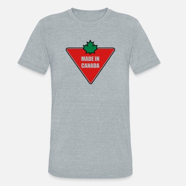 Slogan Made in Canada Tire - Unisex Tri-Blend T-Shirt
