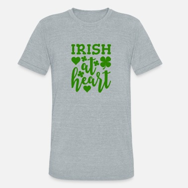 Irish Heart Irish At Heart - Unisex Tri-Blend T-Shirt