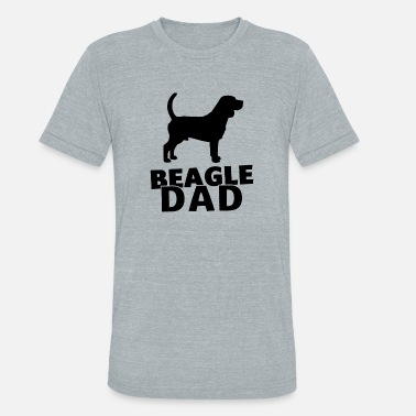 Beagle Dad beagle dad - Unisex Tri-Blend T-Shirt