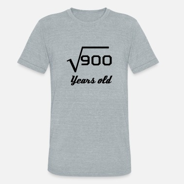 Square Root Of 900 Square Root Of 900 30 Years Old - Unisex Tri-Blend T-Shirt