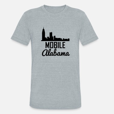 Mobile Alabama Mobile Alabama Skyline - Unisex Tri-Blend T-Shirt