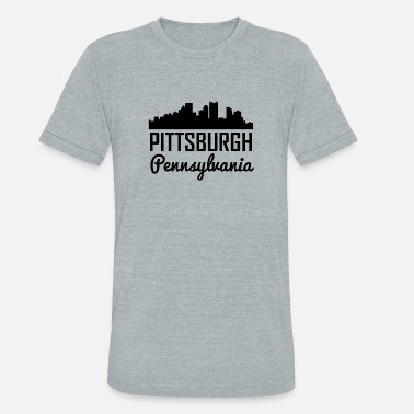 Pittsburgh Pennsylvania Pittsburgh Pennsylvania Skyline - Unisex Tri-Blend T-Shirt