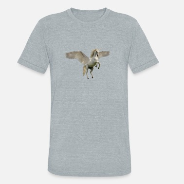 White Unicorn flying white unicorn (wings) - Unisex Tri-Blend T-Shirt