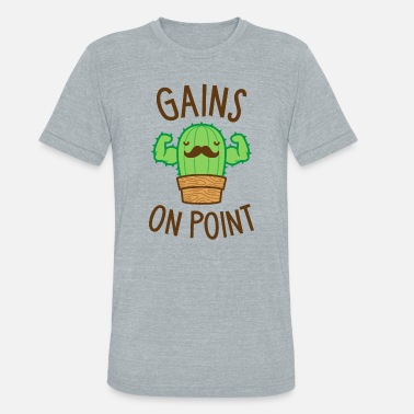 Cactus Puns Are Succulent Gains On Point (Cactus Pun) - Unisex Tri-Blend T-Shirt