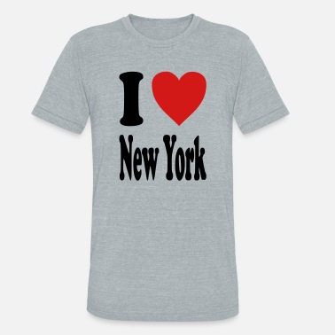 I Love Ny I love New York (variable colors!) - Unisex Tri-Blend T-Shirt