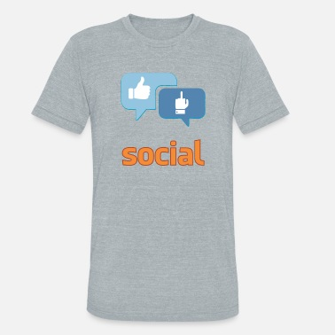 Social Democracy social - Unisex Tri-Blend T-Shirt