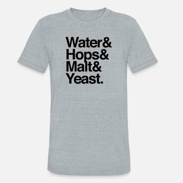 Malt Beer Ingredients - Unisex Tri-Blend T-Shirt