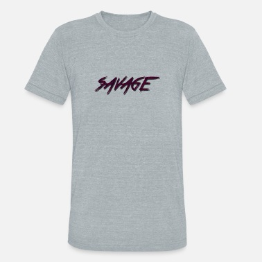 Simple Savage SAVAGE Red case, iphone, samsung, cups - Unisex Tri-Blend T-Shirt
