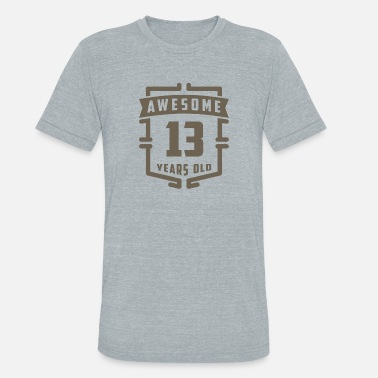 13 Years Old Awesome 13 Years Old - Unisex Tri-Blend T-Shirt