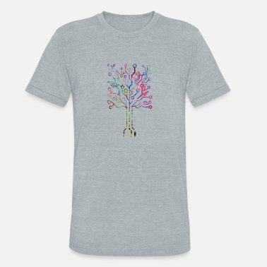 Circuit Circuit board tree - Unisex Tri-Blend T-Shirt