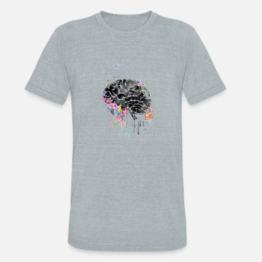 Brain Art Brain anatomy, medical art, watercolor brain - Unisex Tri-Blend T-Shirt