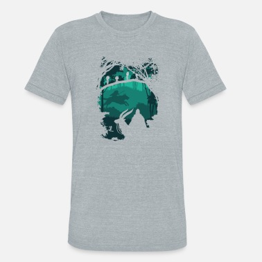Mononoke Princess mononoke - Princess of foerst t-shirt - Unisex Tri-Blend T-Shirt