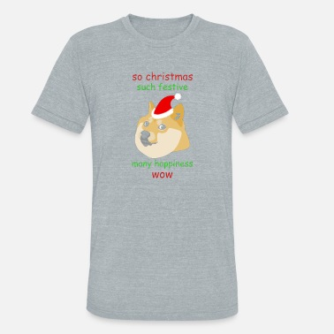 Doge Christmas So Christmas Doge - Unisex Tri-Blend T-Shirt