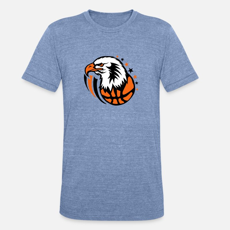 178eaaad basketball eagle cartoon drawing face Unisex Tri-Blend T-Shirt - heather  Blue