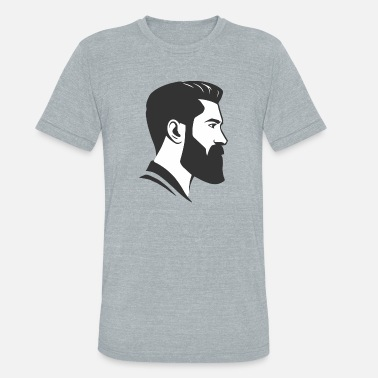 Undercut Head Face Shape Beard Undercut Hair Cut Undercut - Unisex Tri-Blend T-Shirt
