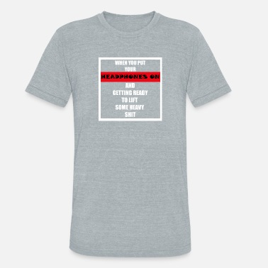 No Excuses Gym Quotes Sports Gym Motivation Quote - Unisex Tri-Blend T-Shirt