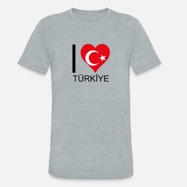 Ankara Sports I love Turkey your favorite country - Unisex Tri-Blend T-Shirt