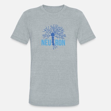 Neurobiology Beautiful Brain Neuron blue - Unisex Tri-Blend T-Shirt