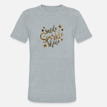 Cdu smile sparkle shine - Unisex Tri-Blend T-Shirt
