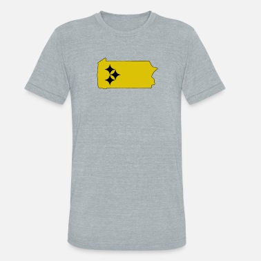 Curtain PITTSBURGH LAND OF STEEL - Unisex Tri-Blend T-Shirt