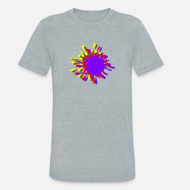Ink Drop Ink Splash With Drops Multicolor - Unisex Tri-Blend T-Shirt