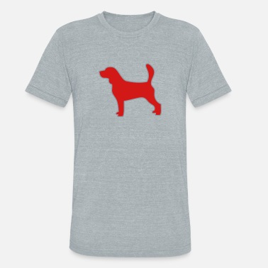 Beagle outlined silhouette - Unisex Tri-Blend T-Shirt