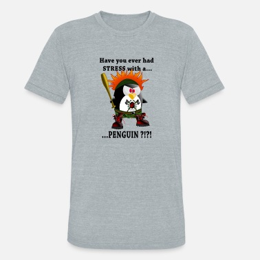 Head Scarf Angry Pinguin - Unisex Tri-Blend T-Shirt