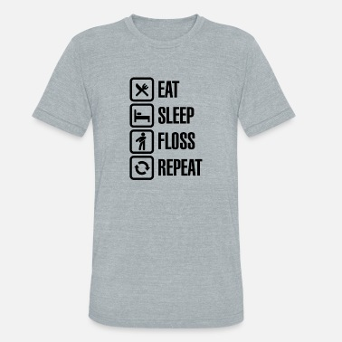 Sleep Dance Eat sleep the floss dance - Unisex Tri-Blend T-Shirt