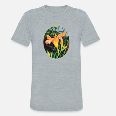 Day Glow Day Lily Glow - Unisex Tri-Blend T-Shirt