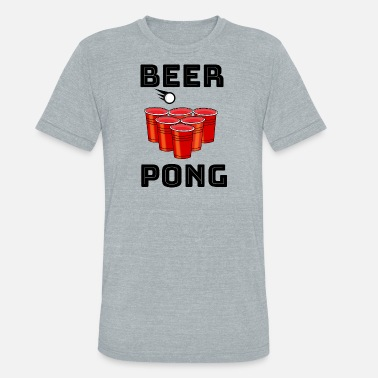 Beer Pong Player Beer Pong Player Bier Fun Game - Unisex Tri-Blend T-Shirt