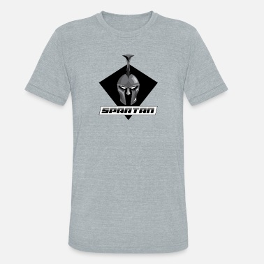 Spartan Crossfit Spartan Black and White - Unisex Tri-Blend T-Shirt