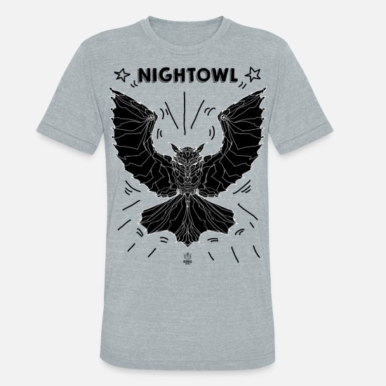 Night Owl T-Shirts - ROBO MONKEY NIGHT OWL - Unisex Tri-Blend T-Shirt heather gray