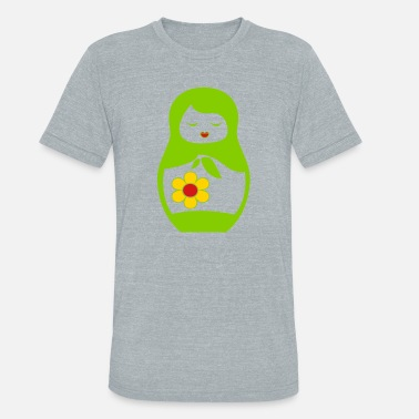 Matryoshka Doll Matryoshka russian doll - Unisex Tri-Blend T-Shirt