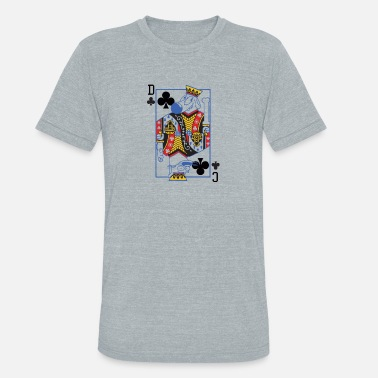 Catdog Catdog Playing Card - Unisex Tri-Blend T-Shirt