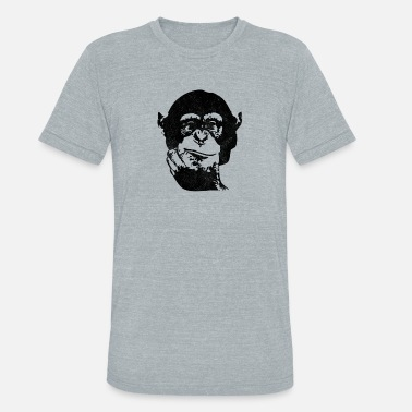 Chimp New Design Think Chimp Mens Best Seller - Unisex Tri-Blend T-Shirt