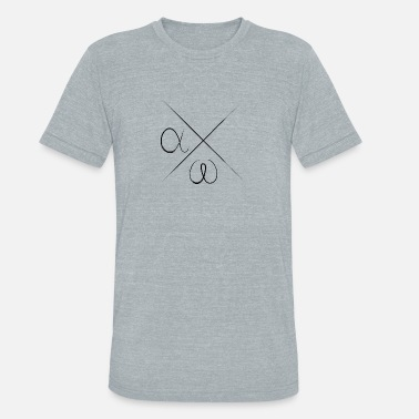 Greek Alphabet Alpha Omega greek alphabet - Unisex Tri-Blend T-Shirt