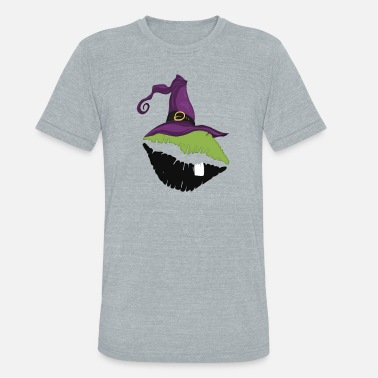 Soulful Sexy Witch Kiss Shirt Scary Lip Halloween Tee Gift - Unisex Tri-Blend T-Shirt