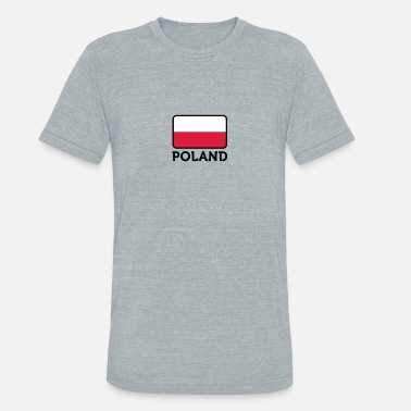 Countries Regions Cities National Flag Of Poland - Unisex Tri-Blend T-Shirt