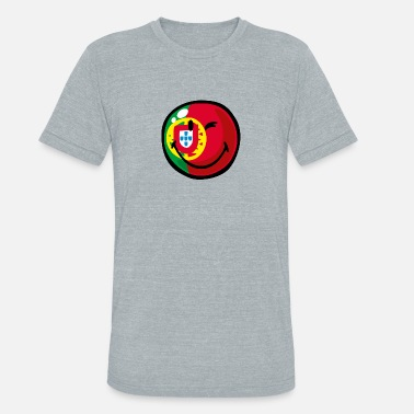 Portuguese American Flag SmileyWorld Portuguese Flag - Unisex Tri-Blend T-Shirt