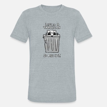 Pee Nerd Life is a trashcan - So pee in it. - Unisex Tri-Blend T-Shirt