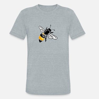 Bee Logo Wasp bee insect wildlife vector image cartoon logo - Unisex Tri-Blend T-Shirt
