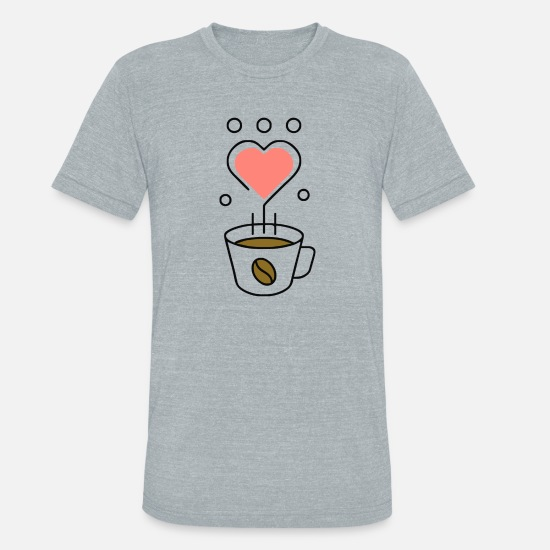 Coffee Bean T-Shirts - Linear Coffee - Unisex Tri-Blend T-Shirt heather gray