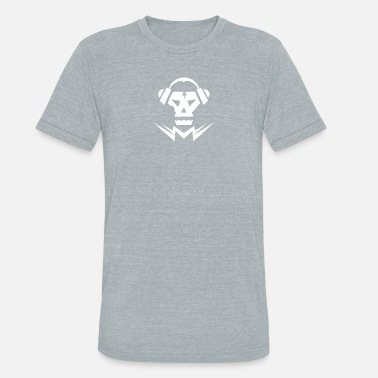 Dubstep Logo Dubstep Music Logo Skull - Unisex Tri-Blend T-Shirt