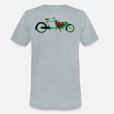 Bicycle Family 3 colour Cargo Bike Long John Style - Unisex Tri-Blend T-Shirt