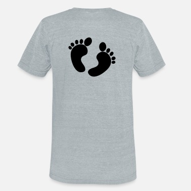 Premature cute footprints love baby maternity - Unisex Tri-Blend T-Shirt
