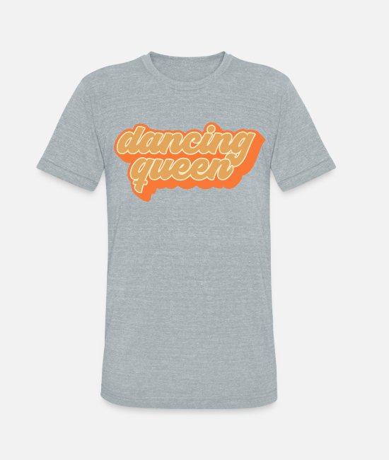 Disco T-Shirts - Groovy Dancing Queen Vintage 70s Dance Gift - Unisex Tri-Blend T-Shirt heather gray