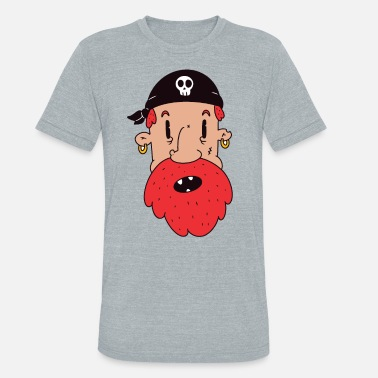 Red Beard Pirate - Unisex Tri-Blend T-Shirt